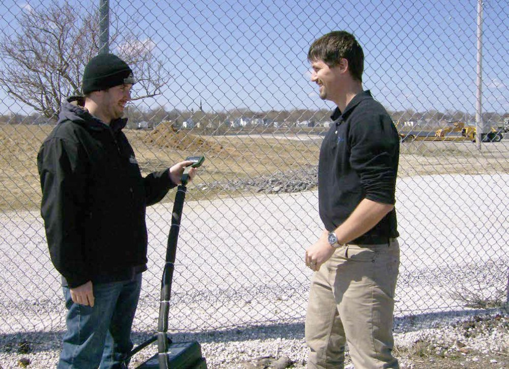 Colin from ALL-TECH and Shaun from KD Testing Fence-line Monitoring